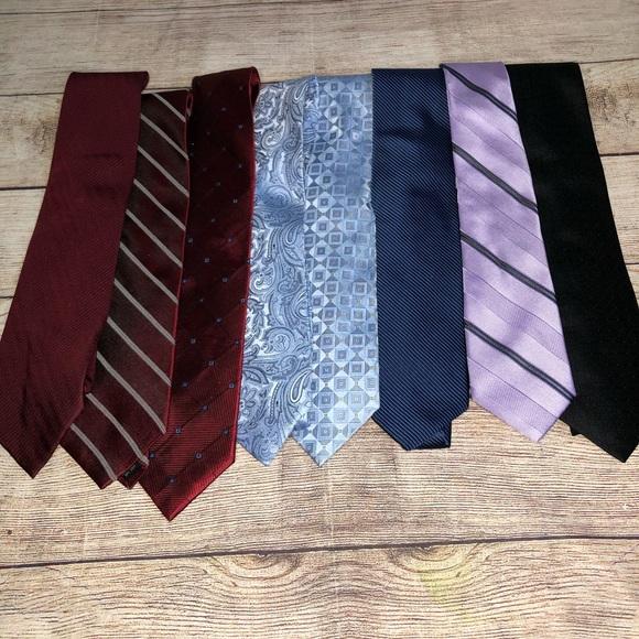 Lot of 8 silk ties including Michael Kors & DKNY
